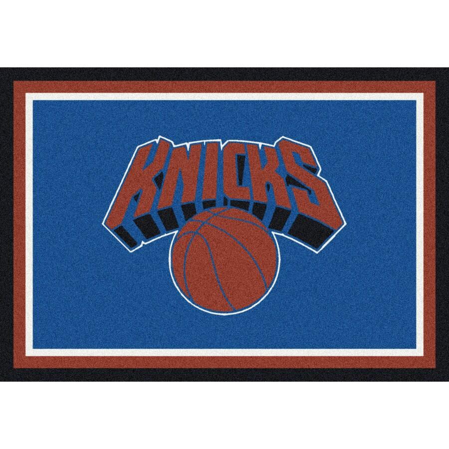 Milliken NBA Spirit Blue Rectangular Indoor Tufted Sports Throw Rug (Common: 3 x 4; Actual: 2.67-ft W x 3.83-ft L)