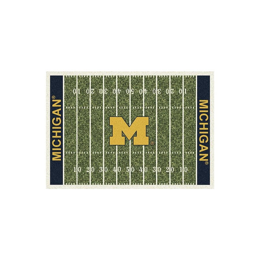 Shop Milliken NCAA Football Field Green Rectangular Indoor