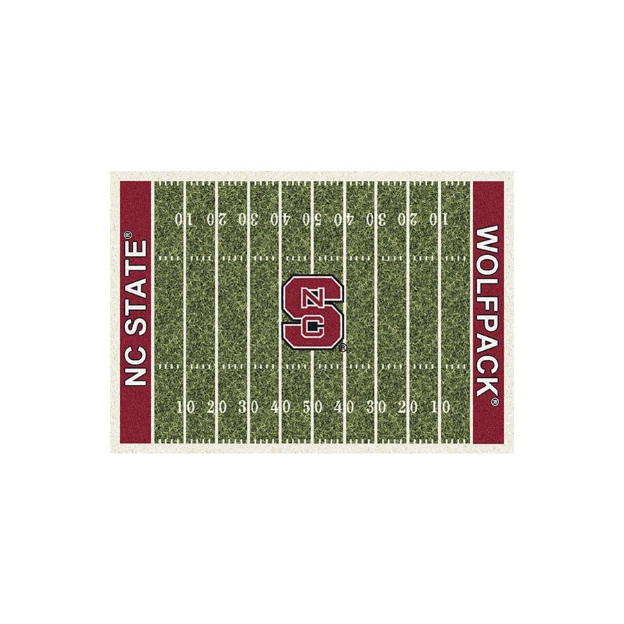 Milliken NCAA Football Field Green Rectangular Indoor Tufted Sports Area Rug (Common: 4 x 6; Actual: 3.83-ft W x 5.33-ft L)