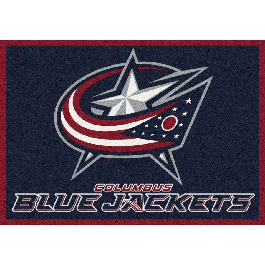 Milliken NHL Spirit Blue Rectangular Indoor Tufted Sports Area Rug (Common: 8 x 10; Actual: 92-in W x 129-in L)