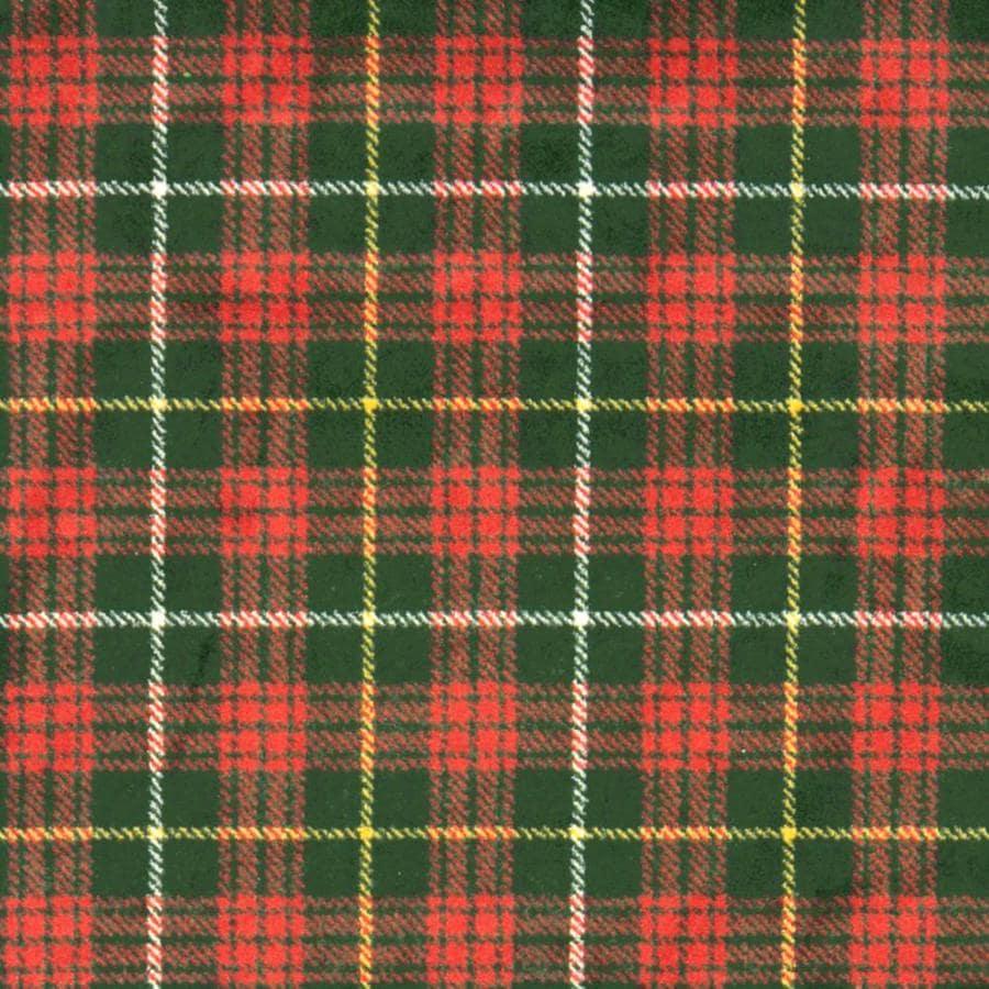 Joy Carpets Kaleidoscope Tartan Green Cut and Loop Indoor Carpet