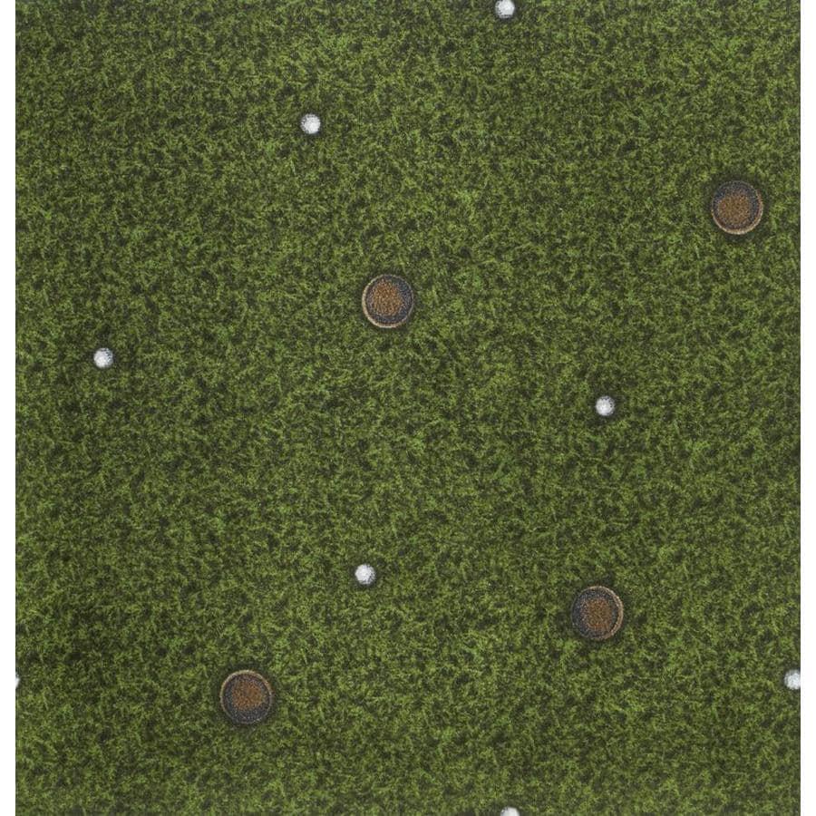 Joy Carpets Sports Fan Multicolor Cut and Loop Indoor Carpet