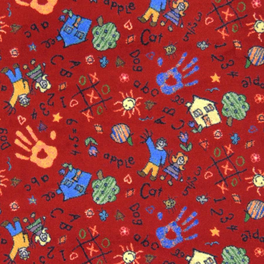 Joy Carpets Playful Patterns Red Interior Carpet