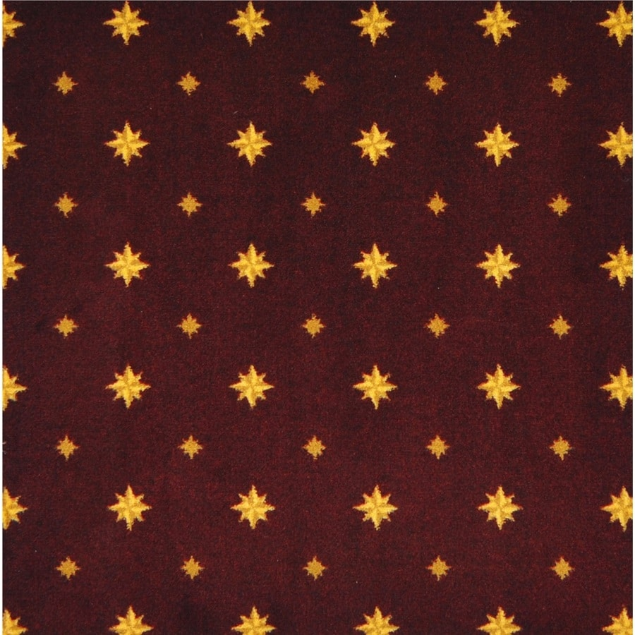 Joy Carpets Any Day Matinee Burgundy Pattern Interior Carpet