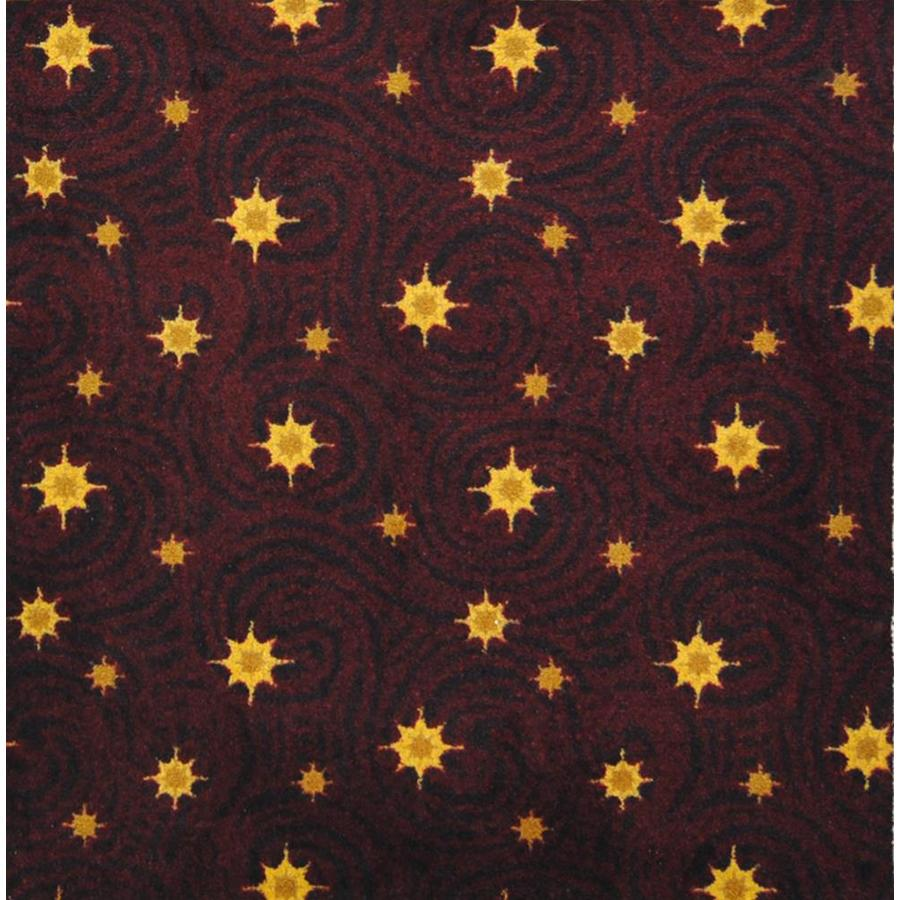 Joy Carpets Any Day Matinee Burgundy Cut and Loop Indoor Carpet