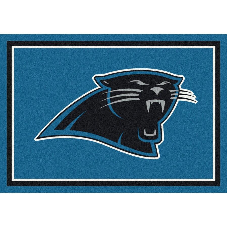 Milliken NFL Spirit Blue Rectangular Indoor Tufted Sports Area Rug (Common: 4 x 6; Actual: 3.83-ft W x 5.33-ft L)