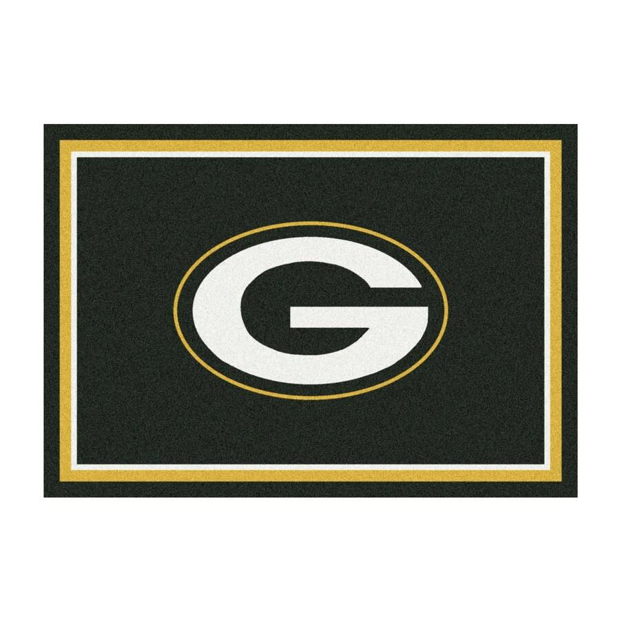 Milliken NFL Spirit Green Rectangular Indoor Tufted Sports Area Rug (Common: 8 x 10; Actual: 92-in W x 129-in L)
