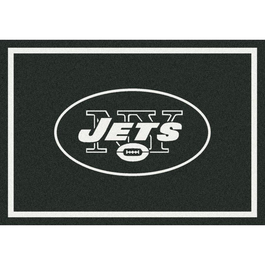 Milliken NFL Spirit Black Rectangular Indoor Tufted Sports Area Rug (Common: 8 x 10; Actual: 7.67-ft W x 10.75-ft L)