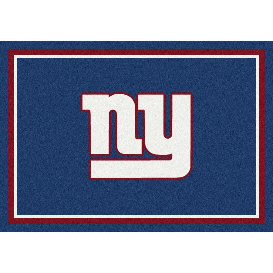 Milliken NFL Spirit Blue Rectangular Indoor Tufted Sports Area Rug (Common: 8 x 10; Actual: 7.67-ft W x 10.75-ft L)