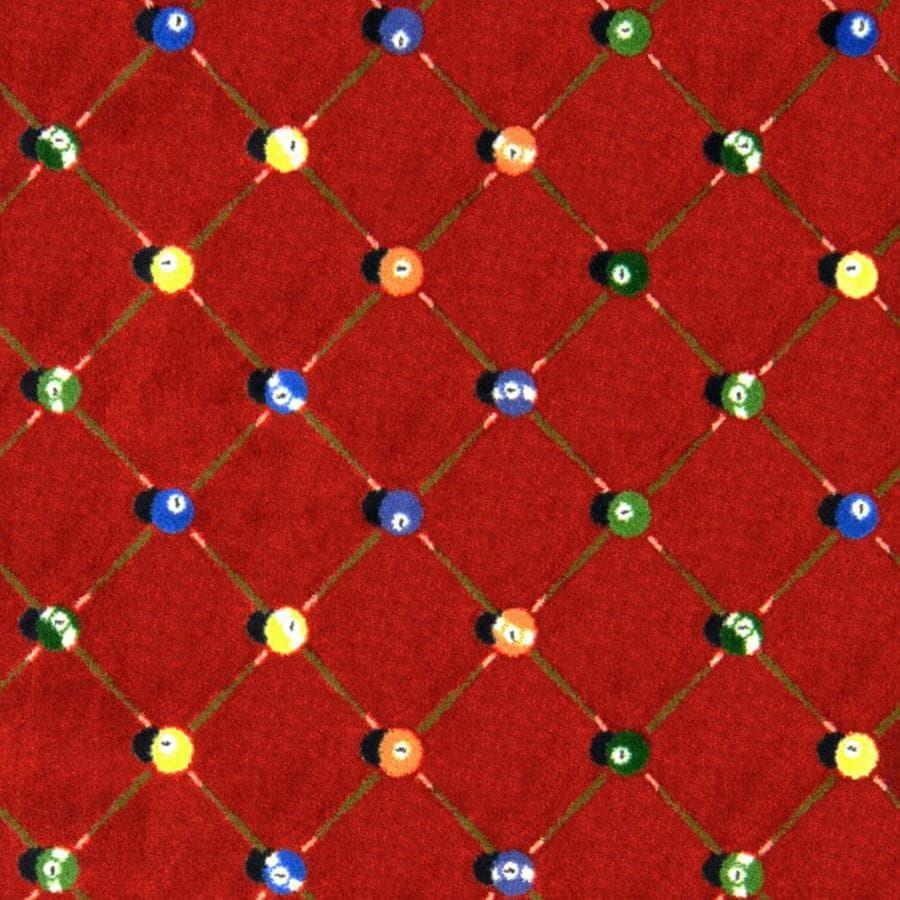 Joy Carpets Games People Play Red Cut and Loop Indoor Carpet