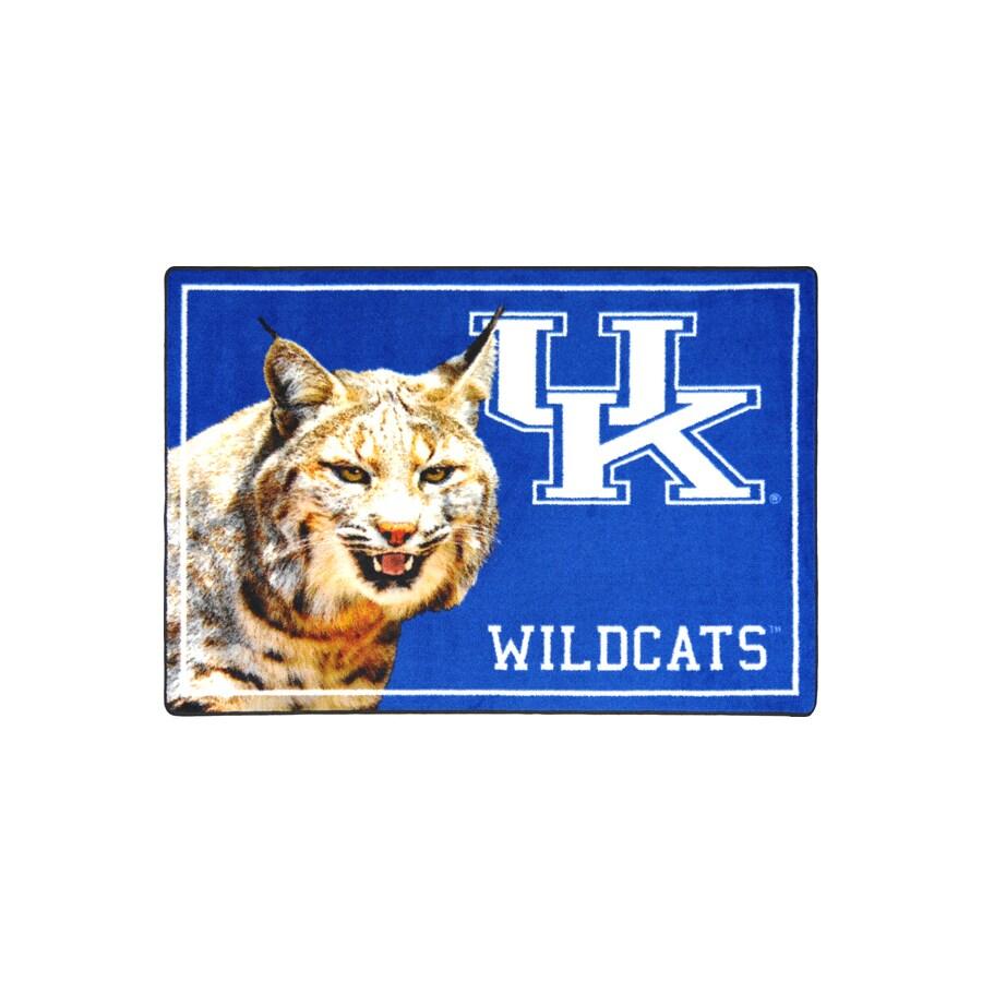 Joy Carpets 2-ft 8-in x 3-ft 10-in Rectangular NCAA Kentucky Wildcats Accent Rug