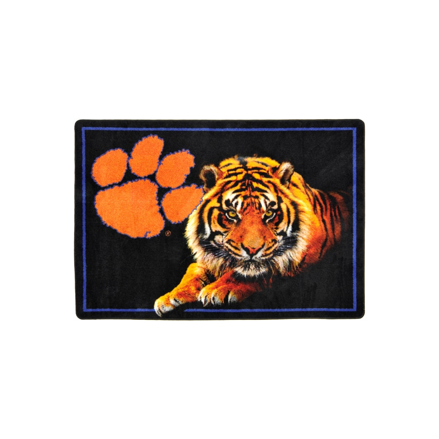 Joy Carpets College Mascot Rectangular Multicolor Sports Area Rug (Common: 8-ft x 10-ft; Actual: 7-ft 8-in x 10-ft 9-in)