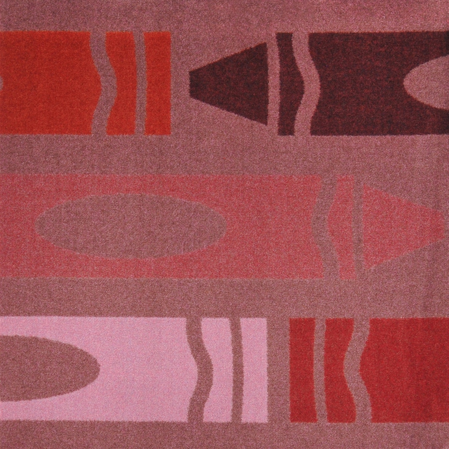 Joy Carpets Playful Patterns Burgundy Cut and Loop Indoor Carpet