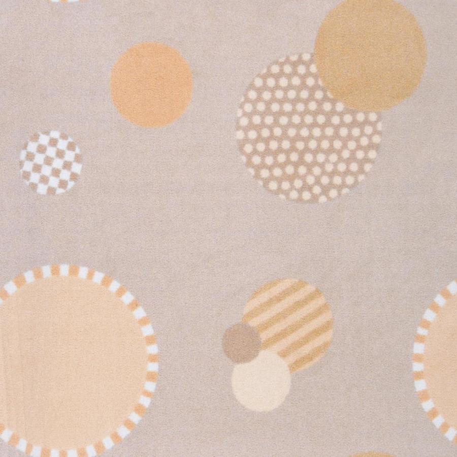 Joy Carpets Playful Patterns Beige Cut and Loop Indoor Carpet