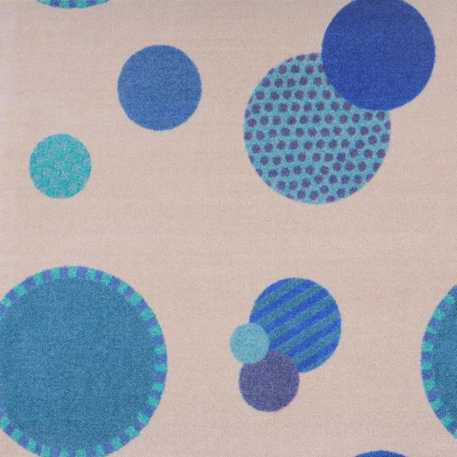 Joy Carpets Playful Patterns Blue Cut and Loop Indoor Carpet