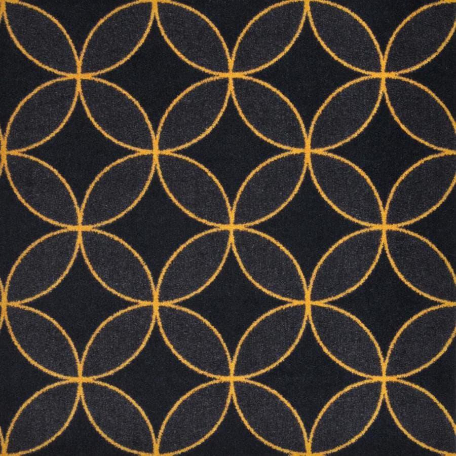 Joy Carpets Kaleidoscope Gold Cut and Loop Indoor Carpet