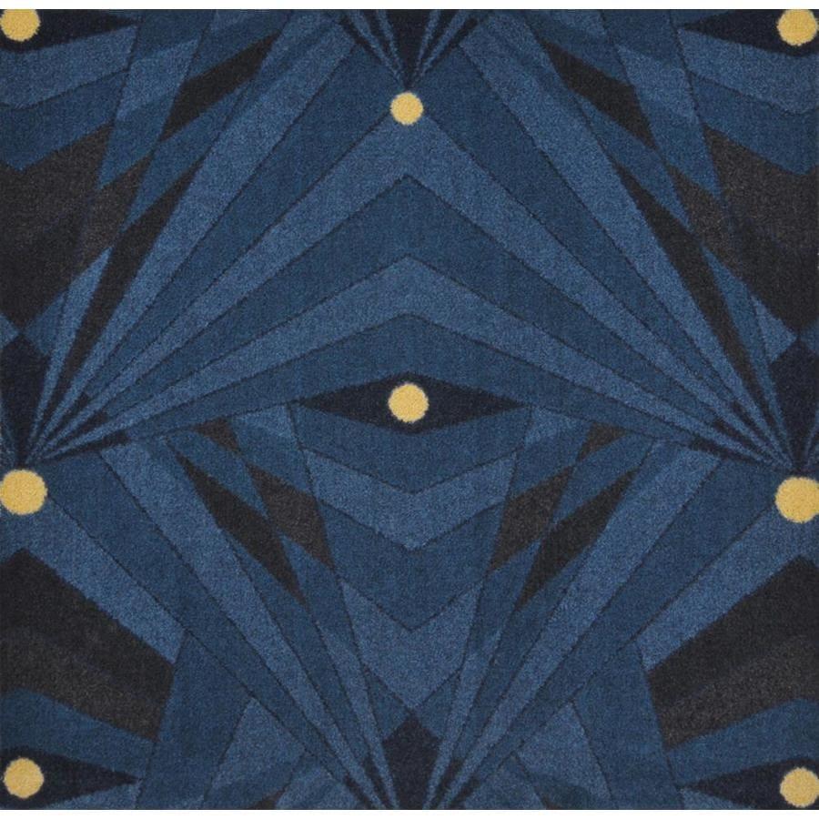 Joy Carpets Any Day Matinee Navy Cut and Loop Indoor Carpet