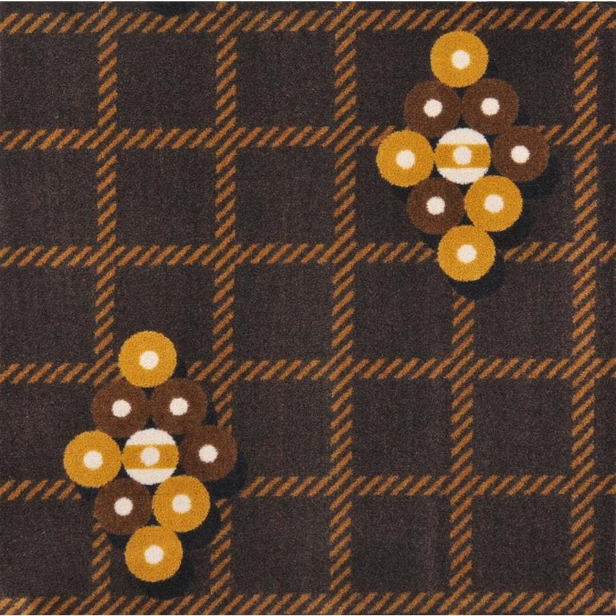 Joy Carpets Games People Play Brown Cut and Loop Indoor Carpet