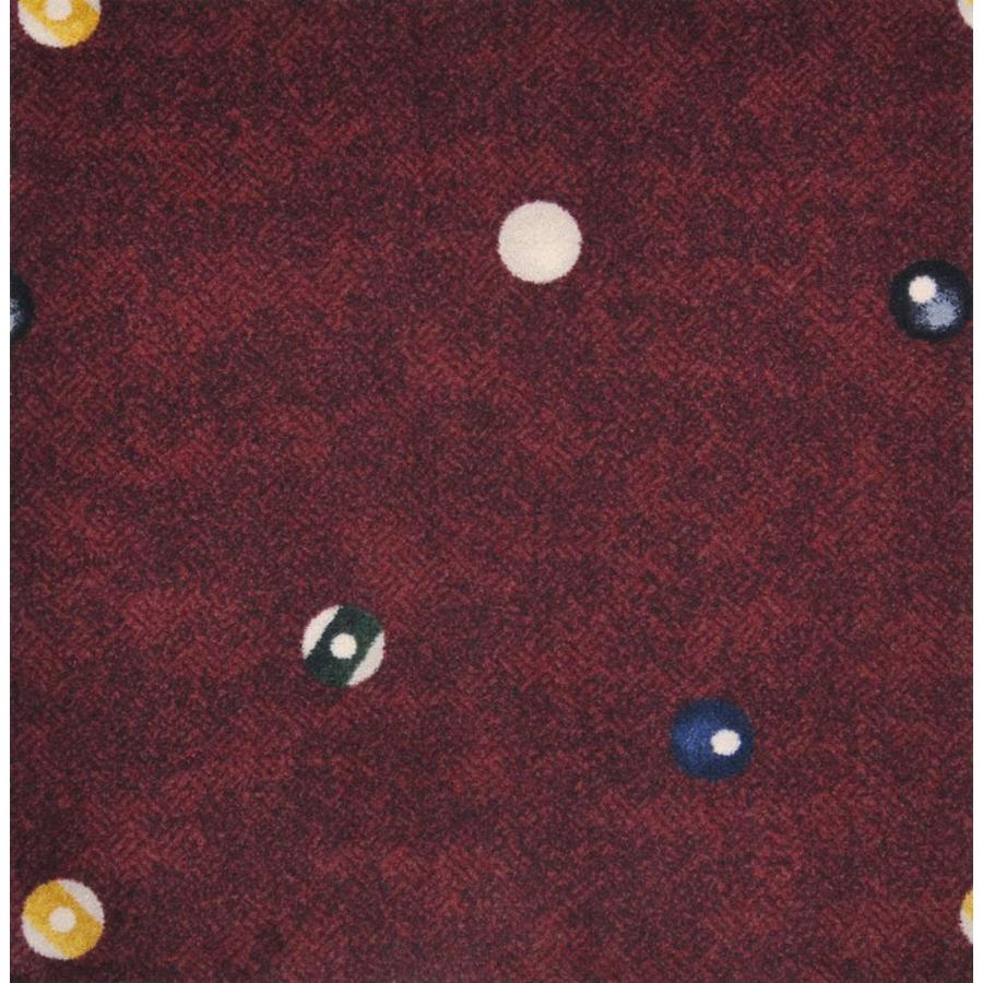 Joy Carpets Games People Play Burgundy Cut and Loop Indoor Carpet