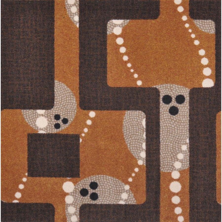 Joy Carpets Sports Fan Brown Cut and Loop Indoor Carpet
