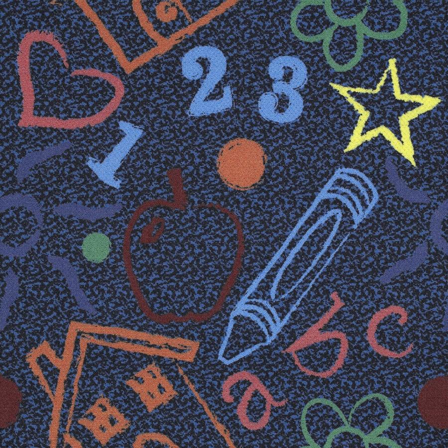 Joy Carpets 5-Pack 39.4-in x 39.4-in Kid's Art Cut and Loop Peel-and-Stick Carpet Tile