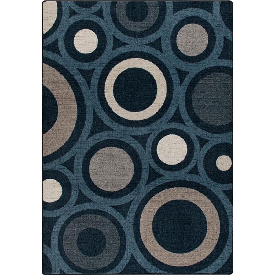 Milliken Mix and Mingle Blue Rectangular Indoor Tufted Area Rug (Common: 5 x 7; Actual: 64-in W x 92-in L)
