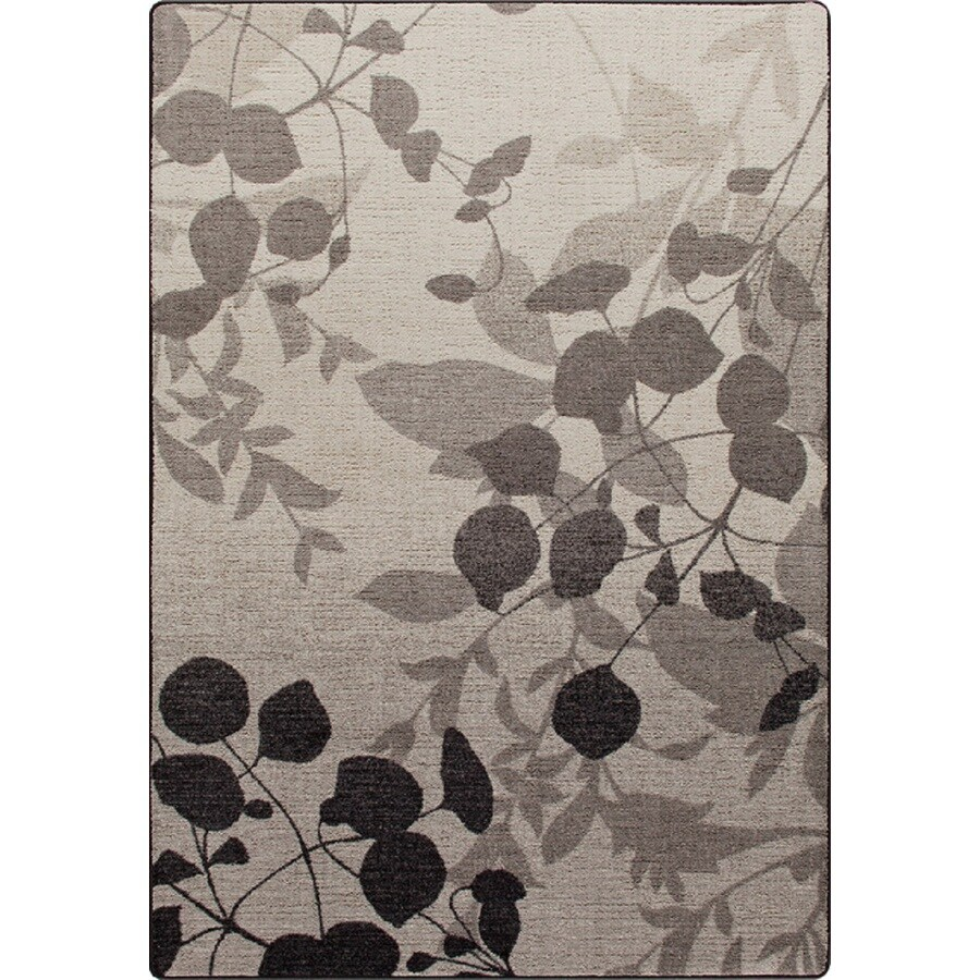 Milliken Mix and Mingle Gray Rectangular Indoor Tufted Area Rug (Common: 5 x 7; Actual: 64-in W x 92-in L)