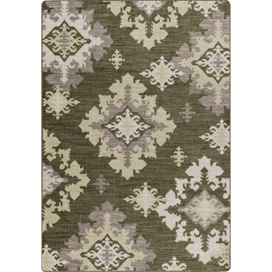 Milliken Mix and Mingle Rectangular Cream Transitional Tufted Area Rug (Common: 7-ft x 10-ft; Actual: 7.66-ft x 10.75-ft)