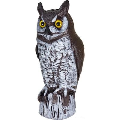 Dalen Great Horned Owl Scarecrow Bird Repellent Decoy at