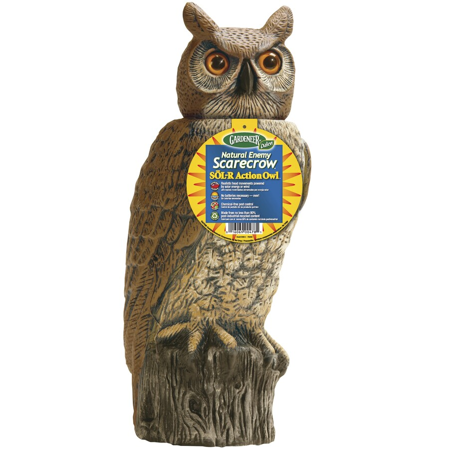 Dalen Natural Enemy Scarecrow Solar Owl Bird Repellent Decoy