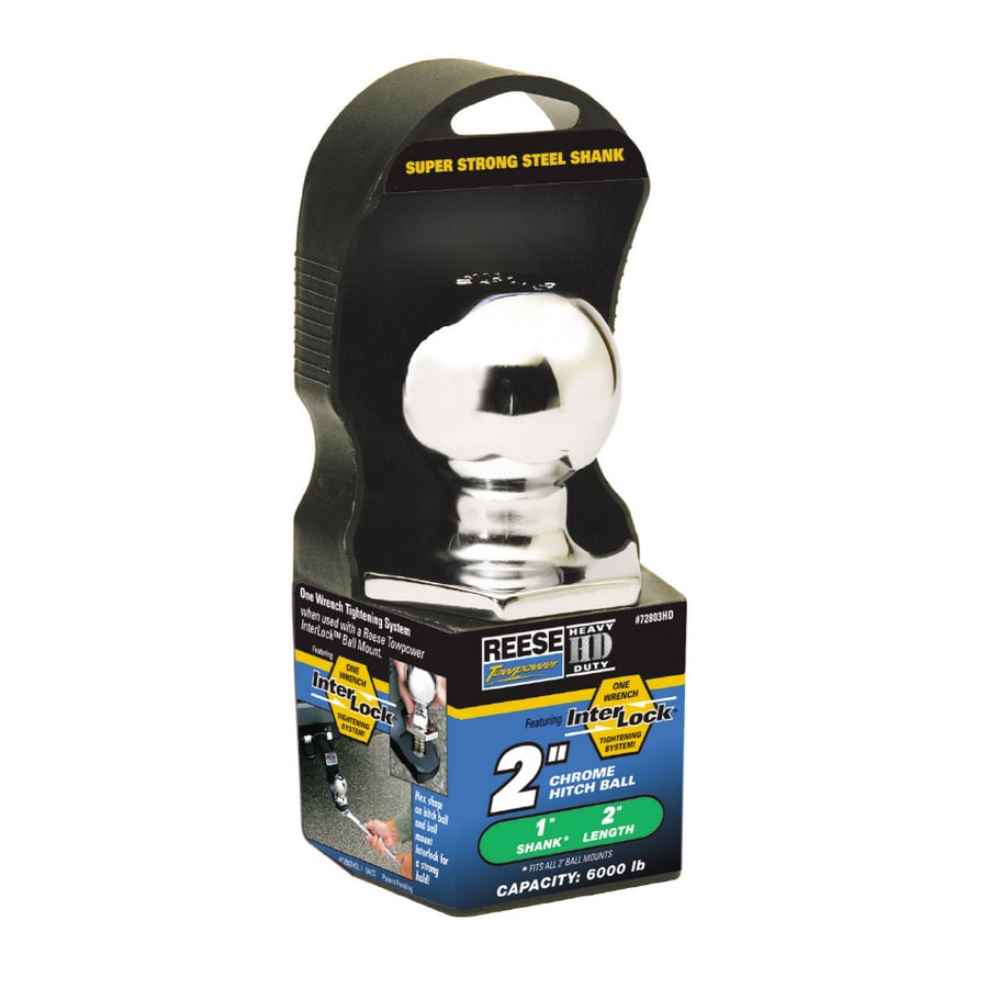 Reese 2-in x 1-in x 2-in Interlock Hitch Ball