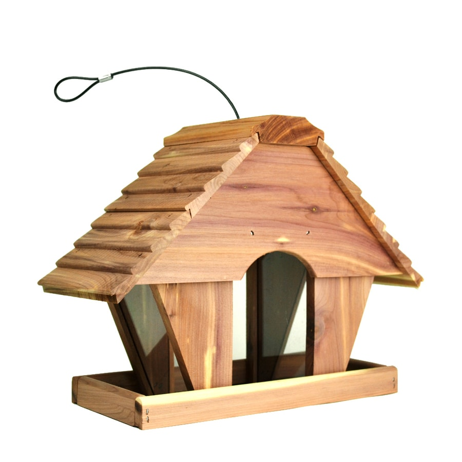 Garden Treasures Cedar Hopper Bird Feeder