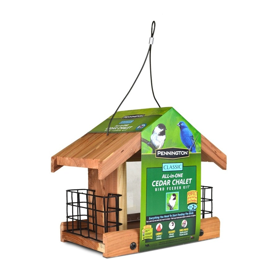 Pennington Cedar Hopper Bird Feeder (Seed Included)