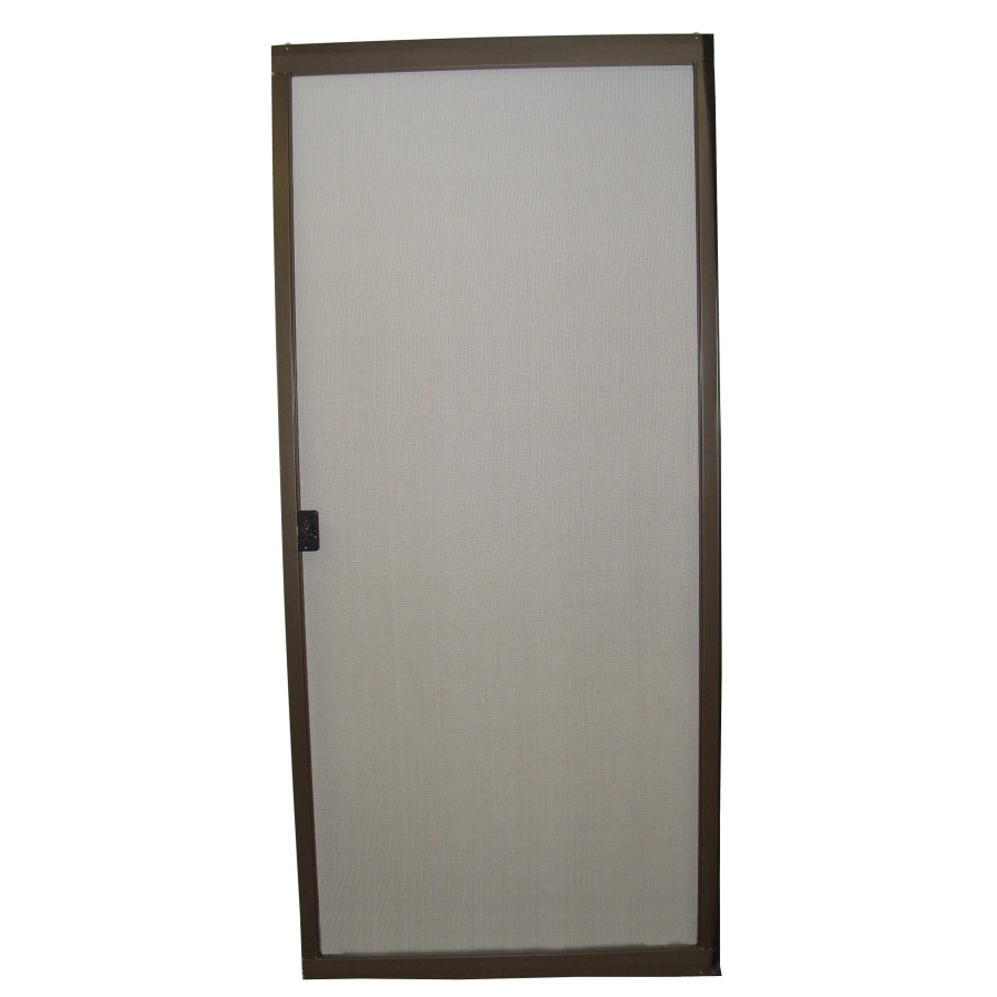 retractable sliding screen door en rona white l