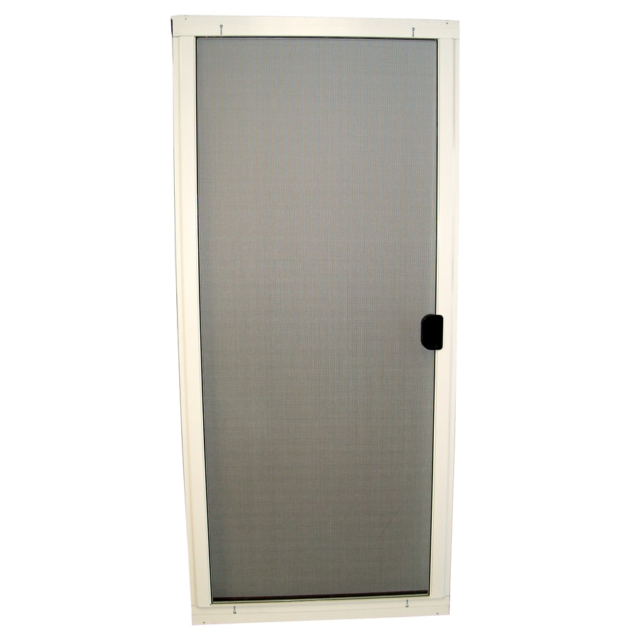 36 x 80 standard white steel replacement patio door screen for Replacement sliding patio screen door