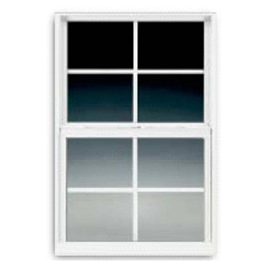 BetterBilt 3000TX Aluminum Double Pane Single Strength Egress Single Hung Window (Rough Opening: 24-in x 36-in; Actual: 23.375-in x 35.5625-in)