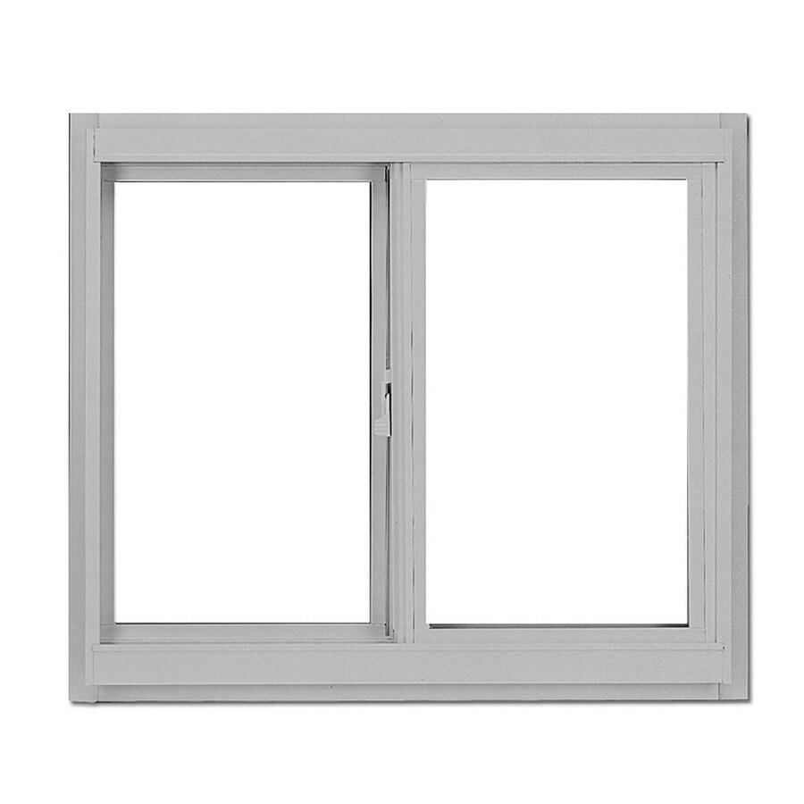 BetterBilt 36-in x 36-in 3000TX Series Left-Operable Aluminum Single Pane New Construction Sliding Window