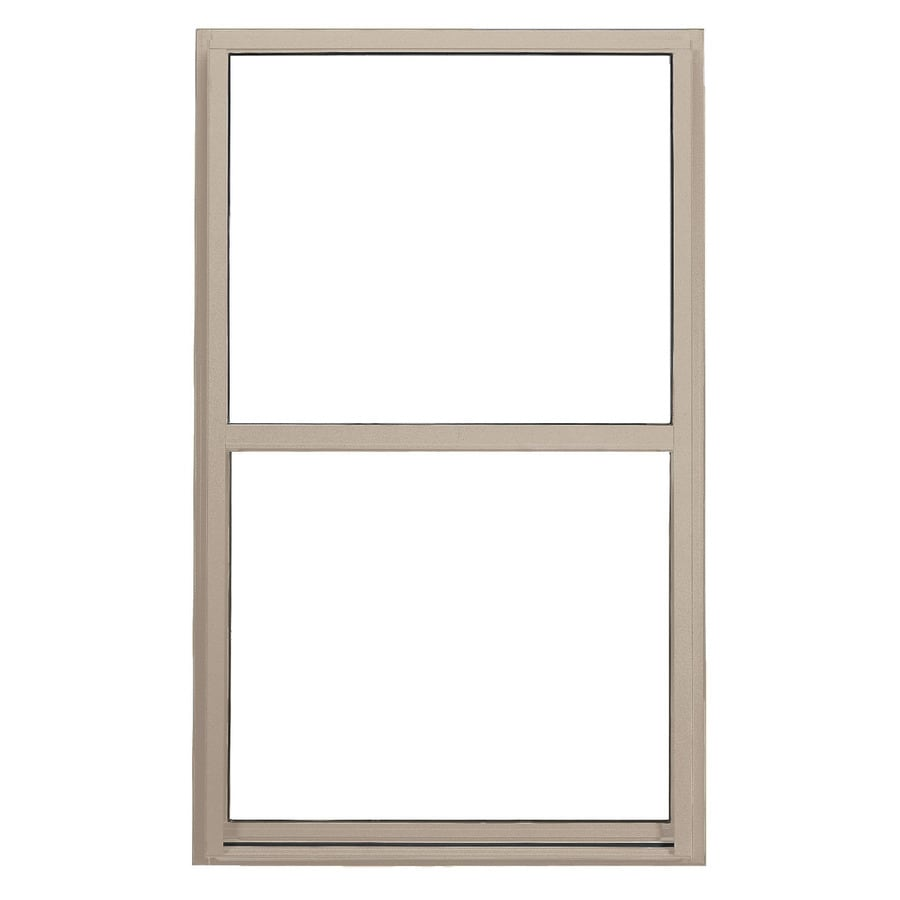 BetterBilt 3000TX Aluminum Double Pane Double Strength Single Hung Window (Rough Opening: 24-in x 36-in; Actual: 23.375-in x 35.5625-in)