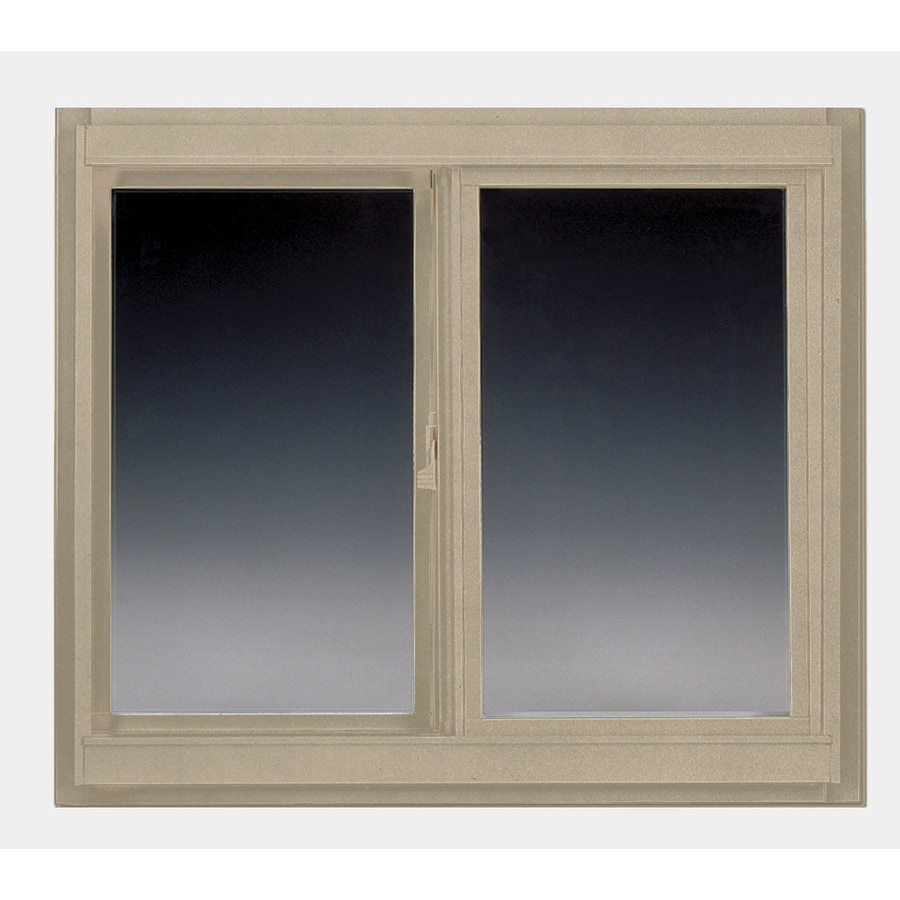 BetterBilt 5800 Series Left-Operable Vinyl Double Pane Single Strength New Construction Sliding Window (Rough Opening: 72-in x 48-in; Actual: 71-in x 47-in)