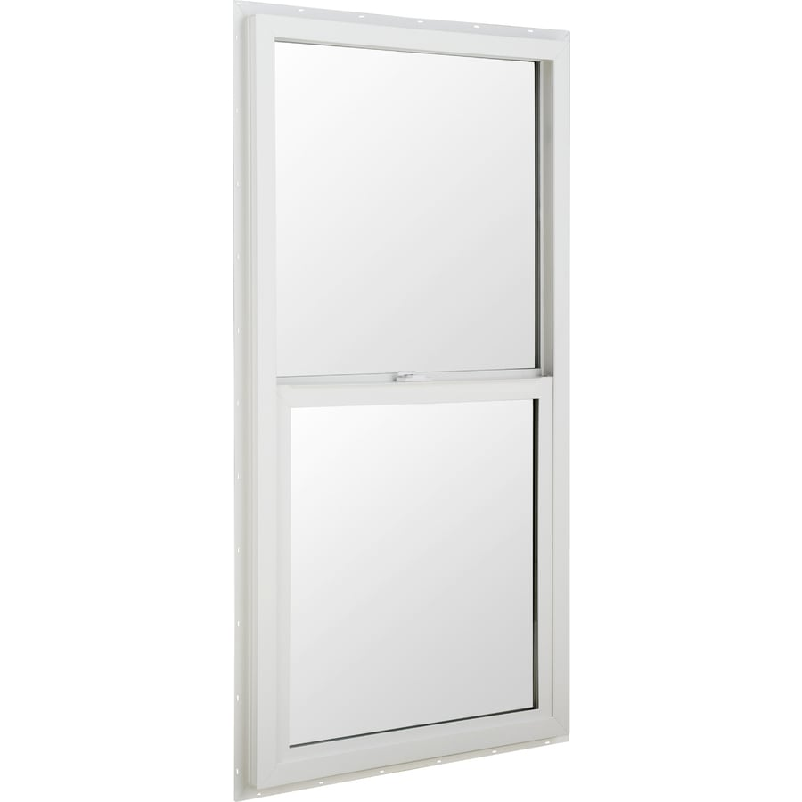 BetterBilt 5500 Series Vinyl Double Pane Single Strength Single Hung Window (Rough Opening: 24-in x 48-in; Actual: 23.5-in x 47.5-in)