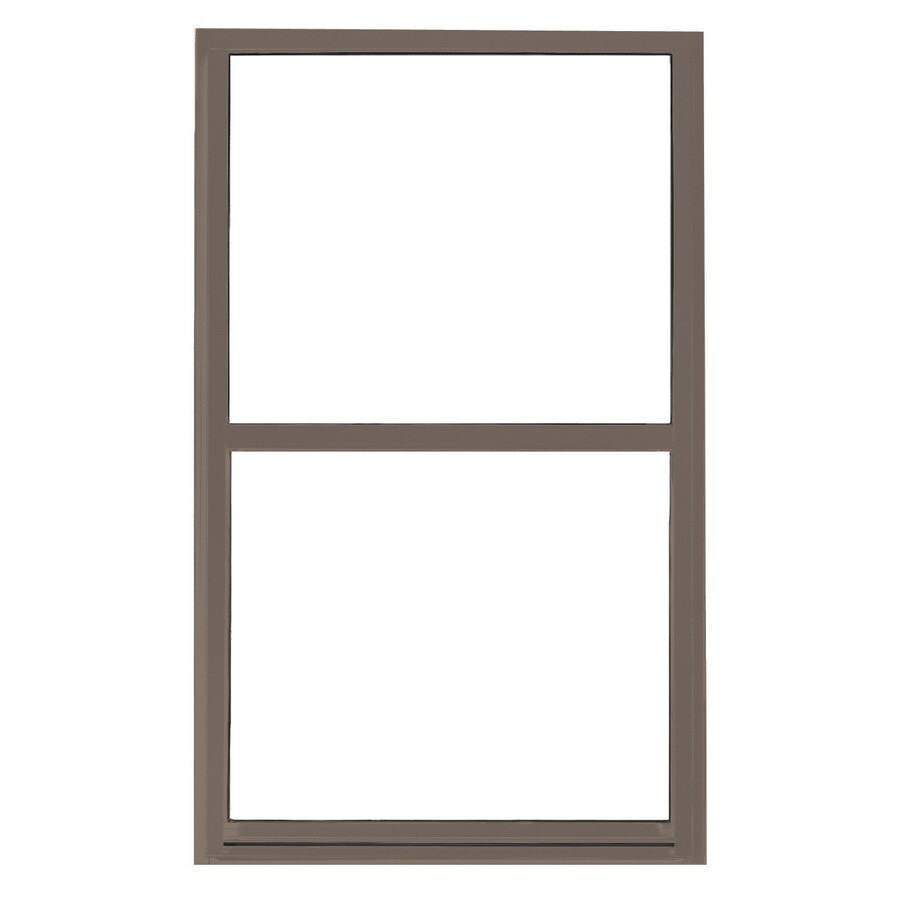 BetterBilt 865 Series Aluminum Double Pane Single Strength Single Hung Window (Rough Opening: 24-in x 36-in; Actual: 23.25-in x 35.5-in)