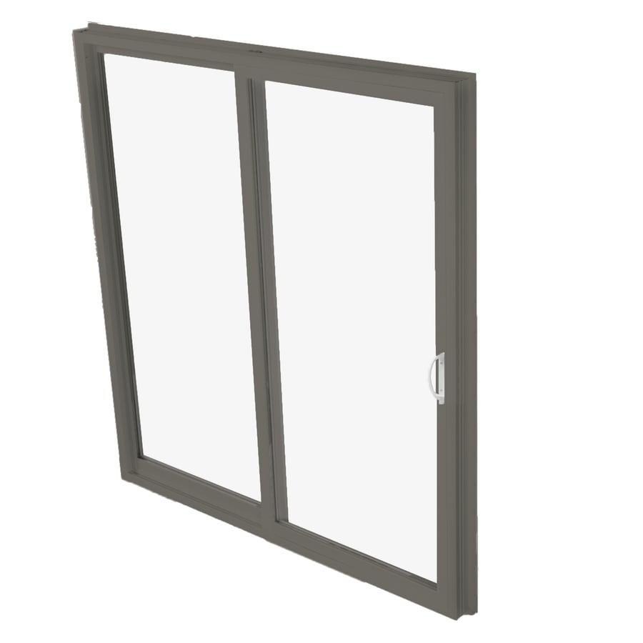 BetterBilt 570 Series 59.5-in Clear Glass Bronze Aluminum Sliding Patio Door with Screen
