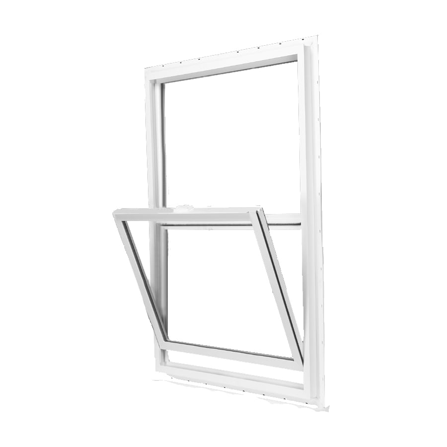 BetterBilt 350 Series Vinyl Double Pane Single Strength Single Hung Window (Rough Opening: 24-in x 48-in; Actual: 23.5-in x 47.5-in)