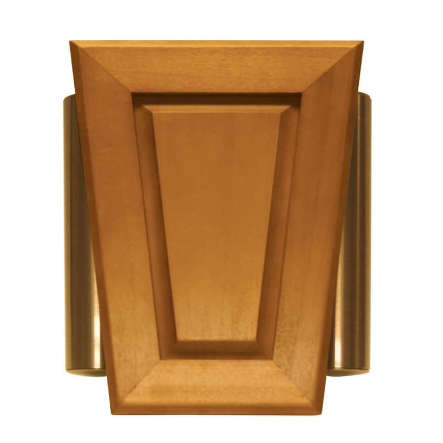 Bon Heath Zenith Wired Door Chime With A Light Oak Stain Cover And Satin Bronze  Side Tubes