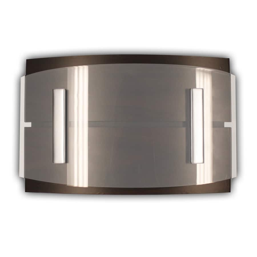 Heath Zenith Curved Dark Wood Cover with Clear Acrylic Accent Panel Wireless Doorbell Kit