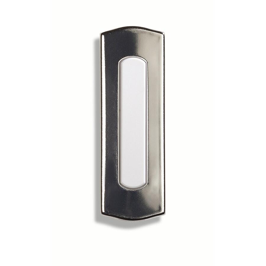 Utilitech Wireless Nickel Doorbell Button (Batteries Included)