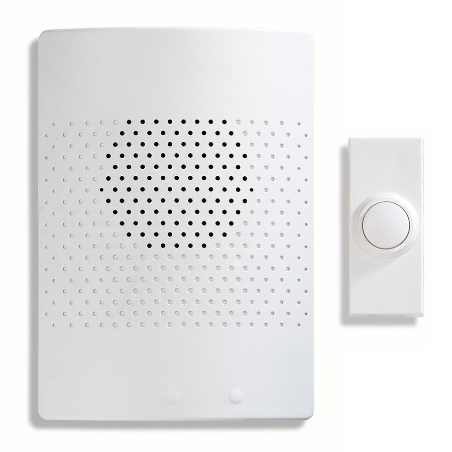 Beau Utilitech White Wireless Doorbell Kit