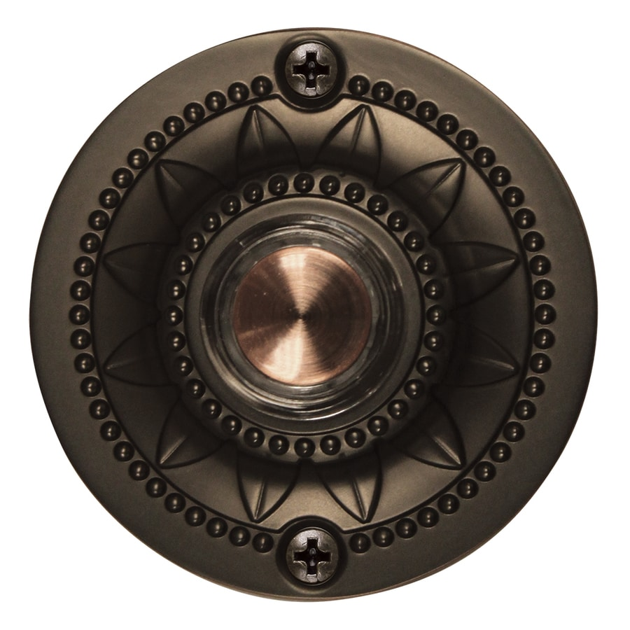 Shop Utilitech Oil Rubbed Bronze Doorbell Button At Lowes Com