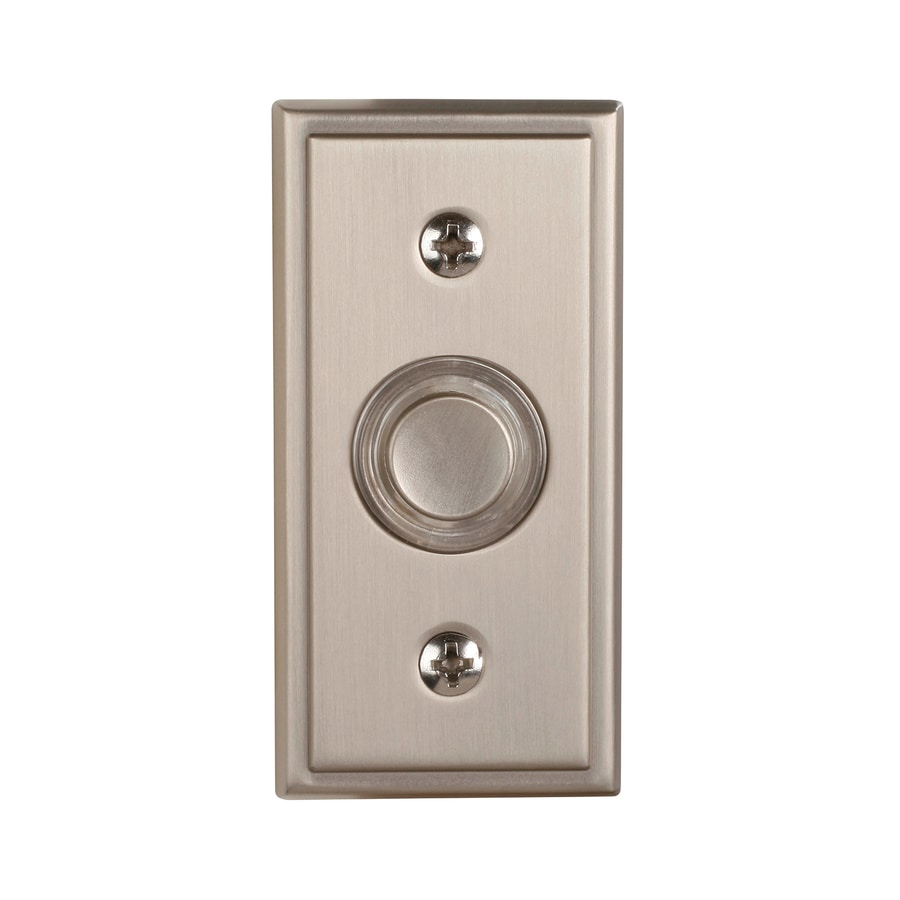Utilitech Satin Nickel Doorbell Button