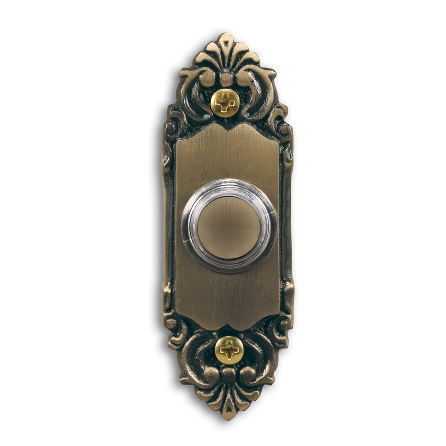 Shop Utilitech Antique Brass Doorbell Button At Lowes Com
